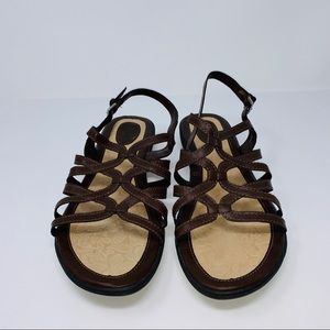 BOC Brown Strappy Leather Open Toe Sandals Sz 12M